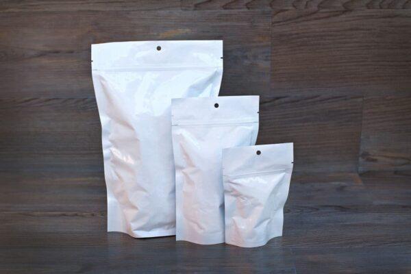 UltraWhite Custom Stand Up Pouches Ziplock Mylar Bags