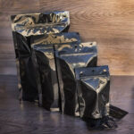 Gloss Black Mylar Pouches