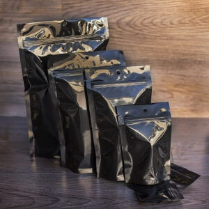 SuperBlack Custom Stand Up Pouches Ziplock Mylar Bags Smell Proof Bags