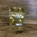 3.5×4.5 gold mylar lay flat pouch