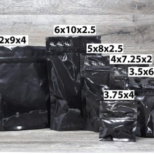 SuperBlack child resistant packaging Custom Stand Up Pouches