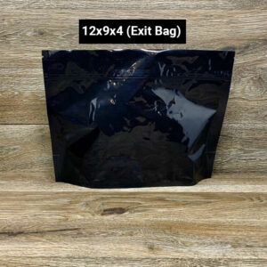 SuperBlack child resistant packaging Custom Stand Up Pouches exit bags