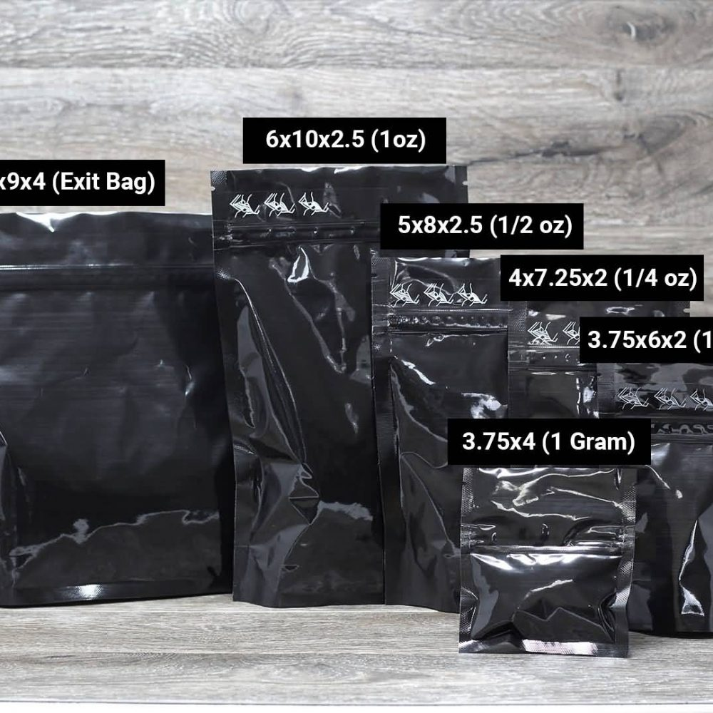 SuperBlack child resistant pouch packaging Custom Stand Up Pouches