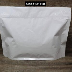 UltraWhite child resistant packaging exit bags