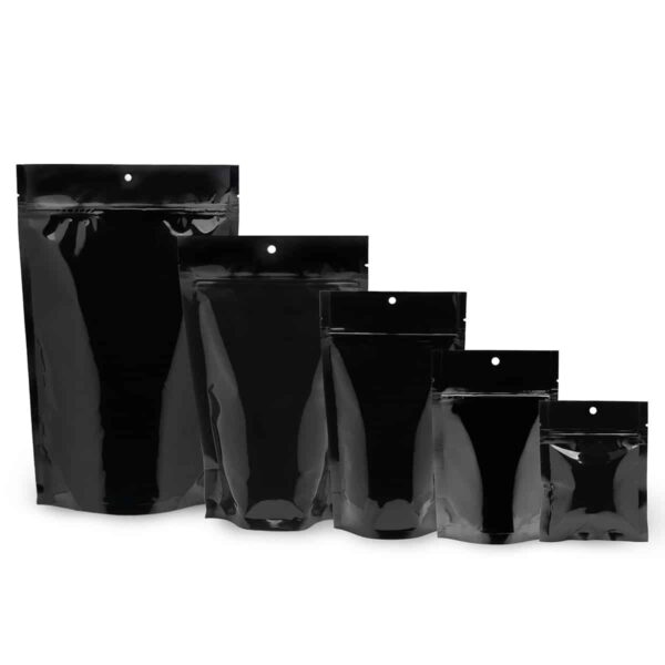 Black Mylar Bags Stand Up Food Pouch