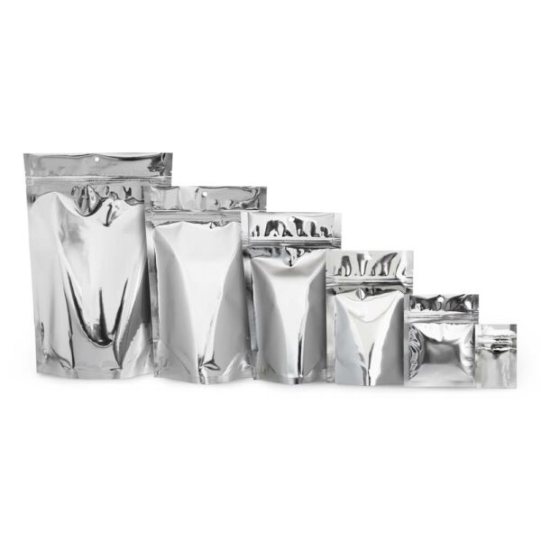Silver Stand Up Food Pouch Mylar Bags