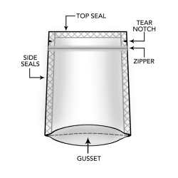 Stand Up Pouches Mylar Bags