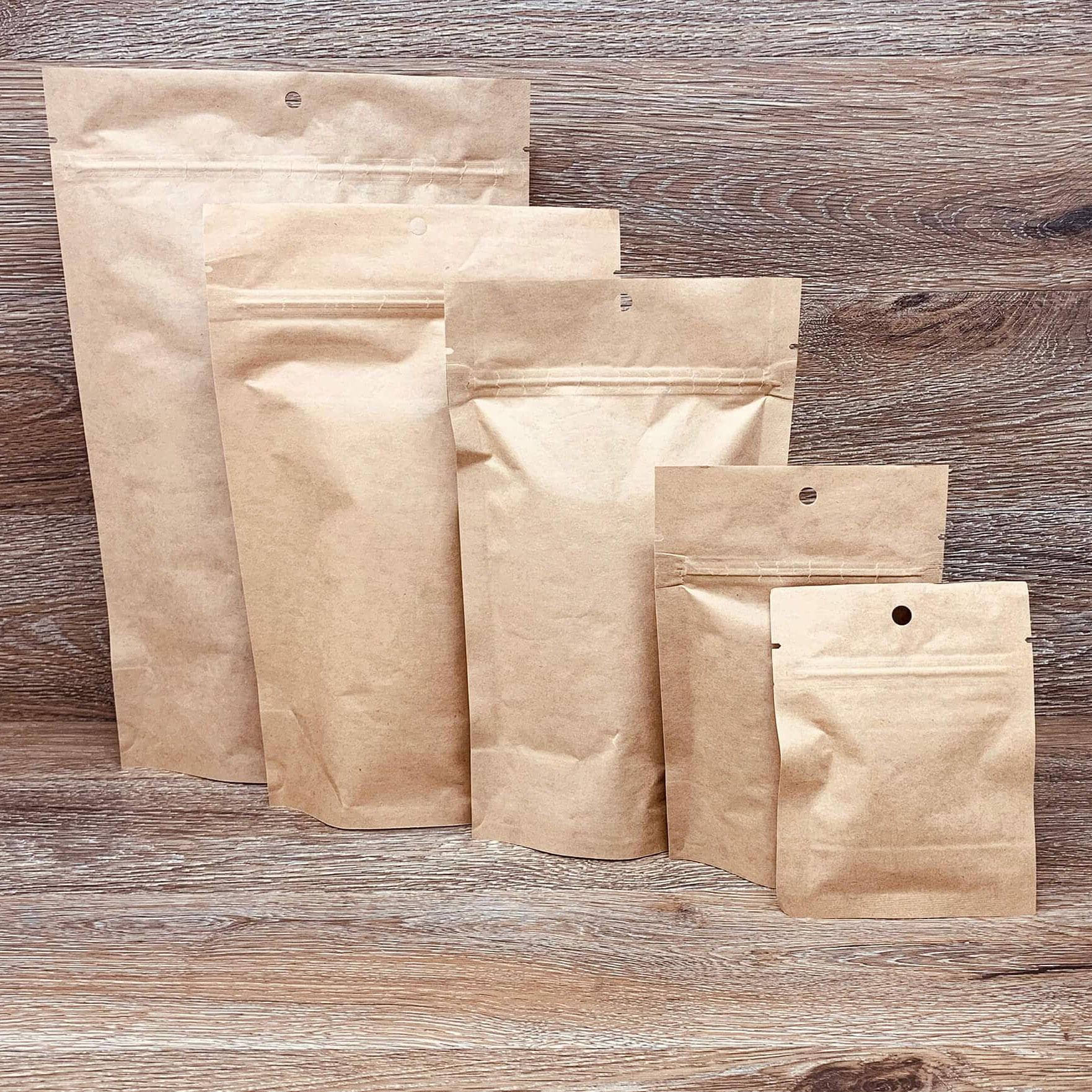 Kraft Mylar bags