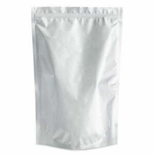 SilverDollar 12×19.5×4 – 100 Pack Silver Stand Up Pouch Food Bags