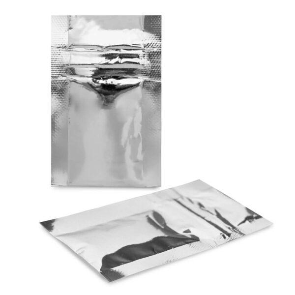 SilverDollar 2×3 – 100 Pack Silver Flat Pouch
