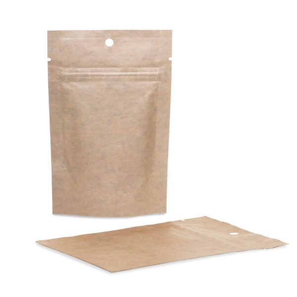 Kraft Mylar 4×6×2.5 – 100 Pack Stand Up Pouch Food Bags