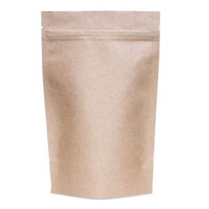 Kraft Mylar 7.5×11.5×3.5 – 100 Pack Stand Up Pouch Food Bags