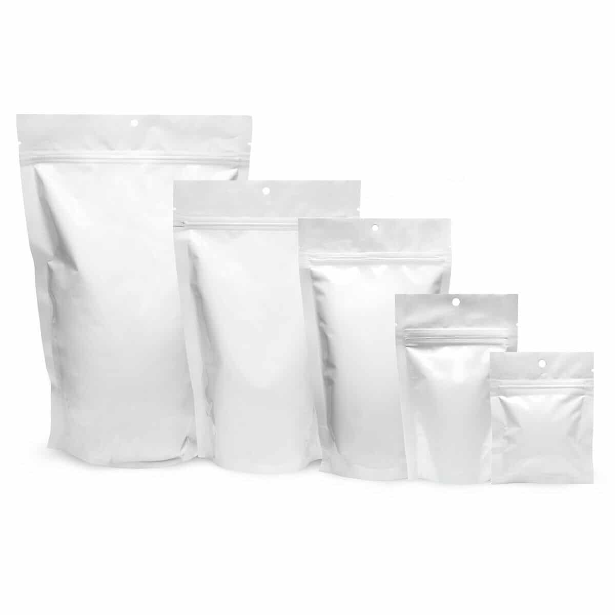 """500 Pk Mylar Bags 4""""x 5.5""""x 1.5"""" Stand Up Resealable Pouch 4 Mil FDA Food Grade"""